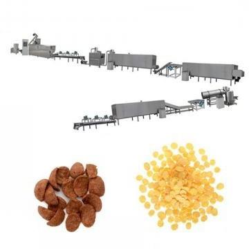 Hot Sale Roasted Breakfast Cereal Corn Flakes Making Machine Puffed Cereals Food Extruder Production Line